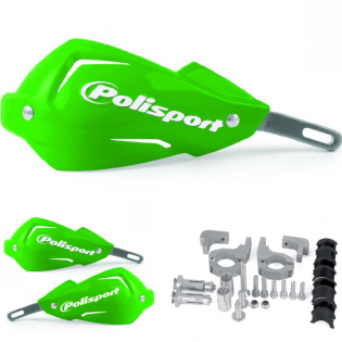 Polisport Touquet Handguards - Green