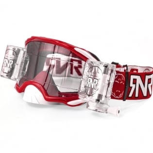 Rip n Roll Platinum WVS Roll Off Goggles - Red