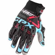 Leatt GPX 5.5 Windblock Gloves - Turquoise Blue Red
