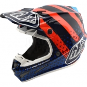 Troy Lee Designs SE4 Carbon Helmet - Streamline Navy Orange