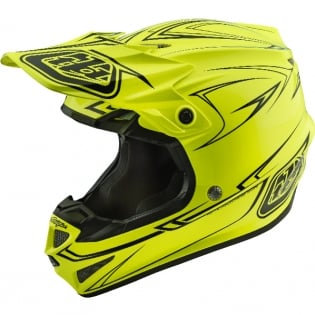 Troy Lee Designs SE4 Polyacrylite Helmet - Pinstripe Yellow