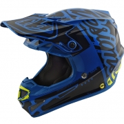 Troy Lee Designs SE4 Polyacrylite Helmet - Factory Blue