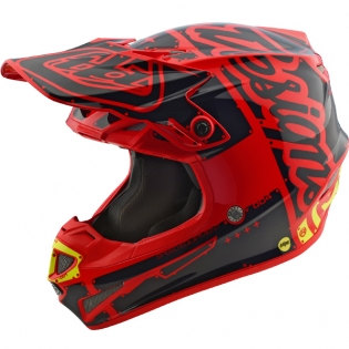 Troy Lee Designs SE4 Polyacrylite Helmet - Factory Red