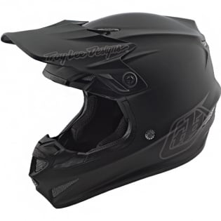 Troy Lee Designs SE4 Polyacrylite Helmet - Mono Black