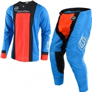 Troy Lee Designs SE Air Kit Combo - Squadra Cyan Orange