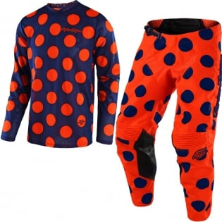 Troy Lee Designs GP Air Kit Combo - Polka Dot Navy Orange