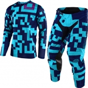 Troy Lee Designs Kids GP Air Kit Combo - Maze Turquoise Navy