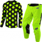 Troy Lee Designs Kids GP Air Kit Combo - Polka Dot Black Flo Yellow