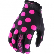 Troy Lee Designs GP Air Gloves - Polka Dot Black Pink