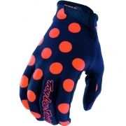 Troy Lee Designs GP Air Kids Gloves - Polka Dot Navy Orange