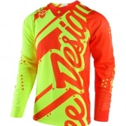 Troy Lee Designs SE Air Jersey - Shadow Flo Yellow Orange