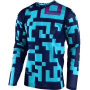 Troy Lee Designs Kids GP Air Jersey - Maze Turquoise Navy