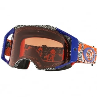 Oakley Airbrake MX Goggles - Dazzle Dyno Orange Blue Prizm