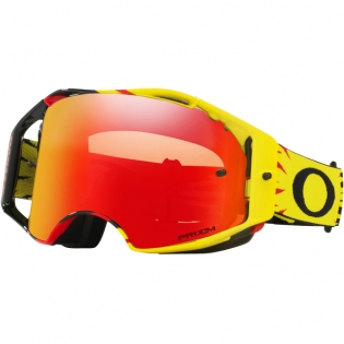 Oakley Airbrake MX Goggles - High Voltage Red Yellow Prizm