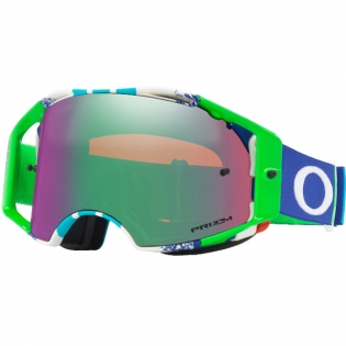 Oakley Airbrake MX Goggles - Pinned Race Blue Green Prizm