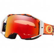 Oakley Airbrake MX Goggles - Troy Lee Megaburst Orange Navy Prizm
