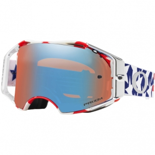 Oakley Airbrake MX Goggles - Troy Lee Freedom Red White Blue Prizm