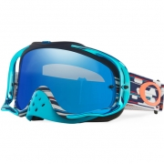 Oakley Crowbar Goggles - Troy Lee Designs Code RWB Black Iridium