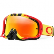 Oakley Crowbar Goggles - Pinned Race Red Yellow Fire Iridium
