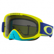 Oakley O Frame 2.0 Goggles - Flo Lime Blue Clear