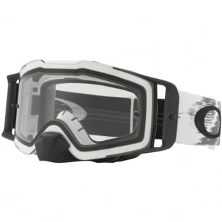 Oakley Front Line MX Goggles - Matte White Speed Clear