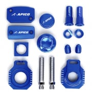 Apico Factory Anodised Bling Pack - Husqvarna Blue
