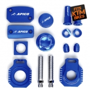 Apico Factory Anodised Bling Pack - KTM Blue