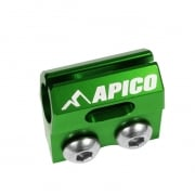 Apico Kawasaki Brake Hose Clamp - Green