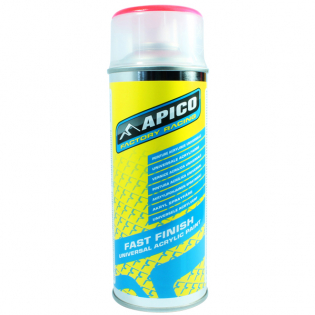 Apico Fast Finish Acrylic Paint 400ml Spray - CR Fluo Red