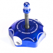 Apico Kawasaki Alloy Fuel Cap with Breather Pipe - Blue
