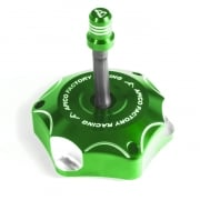 Apico Kawasaki Alloy Fuel Cap with Breather Pipe - Green