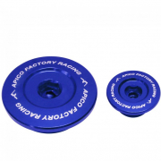 Apico Aluminium Engine Plug Set - Kawasaki Blue