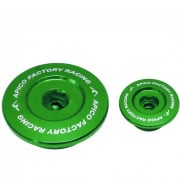 Apico Aluminium Engine Plug Set - Kawasaki Green