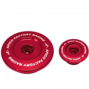 Apico Aluminium Engine Plug Set - Suzuki Red