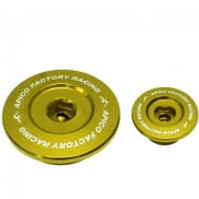 Apico Aluminium Engine Plug Set - Suzuki Gold