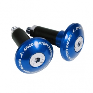 Apico Aluminium Bar End Plugs - Blue