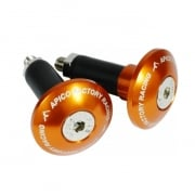 Apico Aluminium Bar End Plugs - Orange