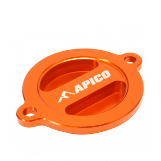 Apico Aluminium Oil Filter Cover - KTM Orange