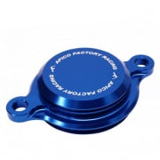 Apico Aluminium Oil Filter Cover - Yamaha Blue