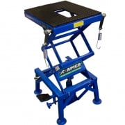 Apico Hydraulic Scissor Lift Bike Stand - Blue