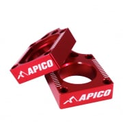 Apico Aluminium Honda Axle Blocks - Red
