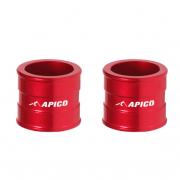 Apico Aluminium Wheel Spacers - Front Honda Red