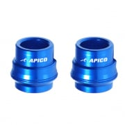 Apico Aluminium Wheel Spacers - Front Husqvarna Blue