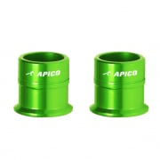 Apico Aluminium Wheel Spacers - Front Kawasaki Green