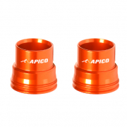 Apico Aluminium Wheel Spacers - Front KTM Orange