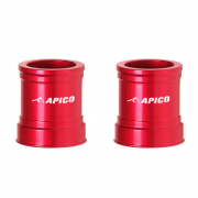 Apico Aluminium Wheel Spacers - Front Suzuki Red