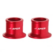 Apico Aluminium Wheel Spacers - Rear Honda Red