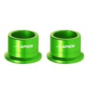 Apico Aluminium Wheel Spacers - Rear Kawasaki Green