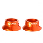 Apico Aluminium Wheel Spacers - Rear KTM Orange