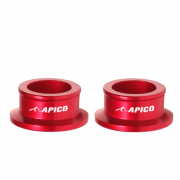Apico Aluminium Wheel Spacers - Rear Suzuki Red